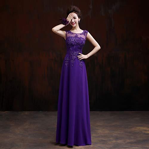 6~26W dimensioni da UK sera Abiti in da 20w cerimonia A Ailin da d'onore da home ballo Line Purple Abito lunghi nuziale Purple Abito damigella chiffon Taglia Colore pHqwxdS