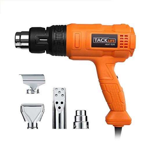Professional Heat Gun 1500W 122℉~1022℉(50℃~550℃) - Adjustable 3 Temp/Flow-settings, Unique Cooling Mode, 4 Nozzle Attachments(Working Time Over 500 Hrs) - HGP70AC