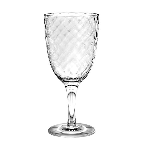 Tarhong Azura Acrylic Wine Goblet, Clear, 12 pieces