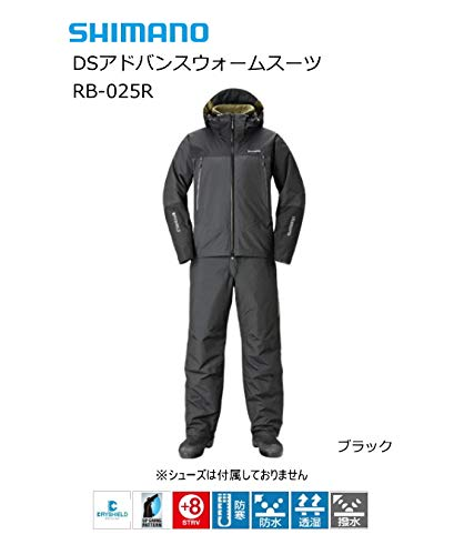 シマノ DSアドバンスウォームスーツ RB-025R ブラック XL