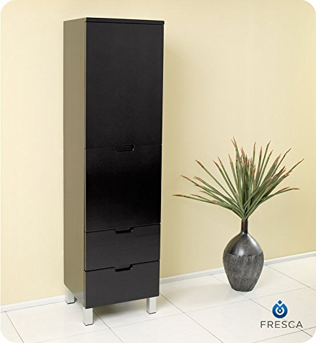 Fresca Bath FST1040ES Bathroom Linen Side Cabinet with 4 Storage Area, Espresso by Fresca Bath