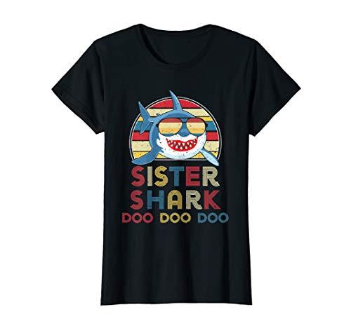 - Retro Vintage Sister Sharks Tshirt gift for Womens