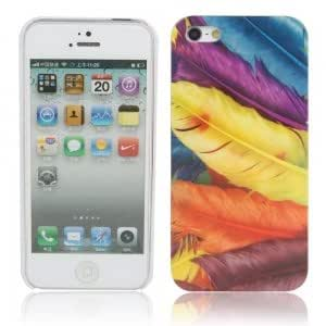 Feather Pattern Hard Protective Case for iPhone 5