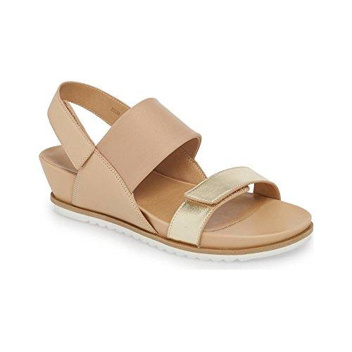 Adjustable Slingback Leather Comfort Hayley Women's VANELi Sandal Platino nOI7q50