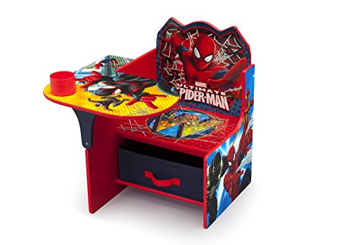 (Delta Children Chair Desk With Storage, Marvel Spider-Man)