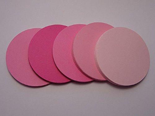 Mixed Pink 2 Inch Paper Circle Tags - Large Confetti Circles - Die Cuts - Favor Tags - Table Confetti (Set of 100 pieces) from Honeybear Party Boutique