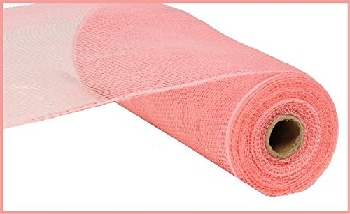 10 inch x 30 feet Deco Poly Mesh Ribbon - Value Mesh (Pink (Deco Mesh Halloween Tree)
