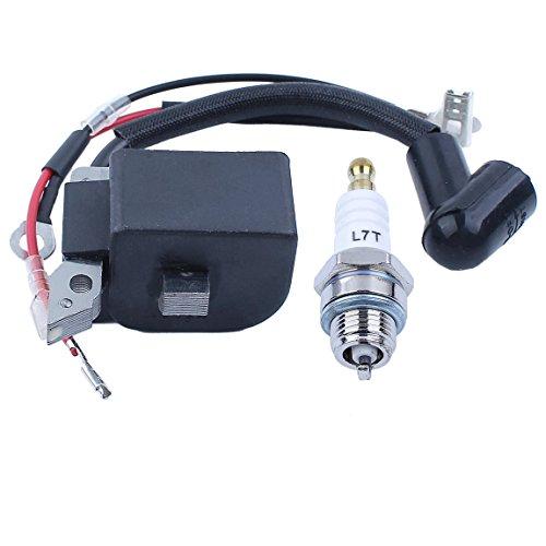 Haishine Ignition Coil Module Spark Plug Kit for Husqvarna 240 235 136 137  141 23 26 36 41 Chainsaw Parts