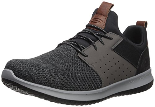Skechers Men's Classic Fit-Delson-Camden Sneaker,black/Grey,12 M US