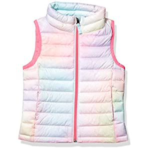 Amazon Essentials Girl's Lightweight Water-Resistant Packable Puffer Vest