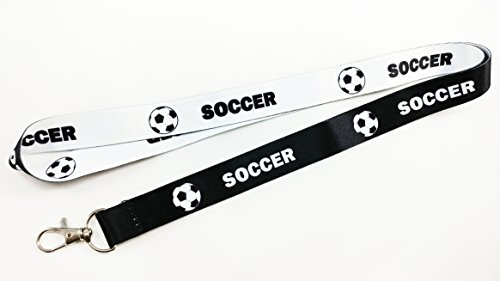 Soccer Reversible Black/White Lanyard (1)