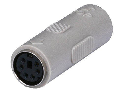 Pin Din Coupler (Monoprice PS2 Coupler Mini DIN6 Female to Female Molded Gender Changer (101173))