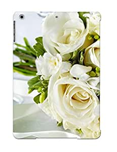 Cute High Quality Ipad Air White Roses Bouquet Case Provided By Justingooden