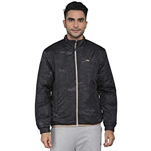Wildcraft Mens Zip Through Neck Solid Quilted Jacket