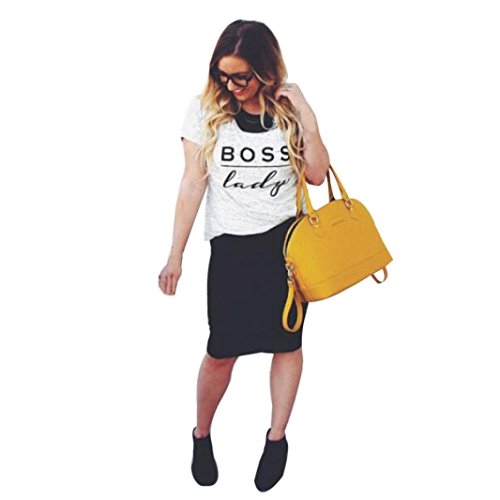 Gbsell Boss Letter Printed Family Men Lady Mini Baby Boy Girl Tops T Shirt  Boss Lady  M