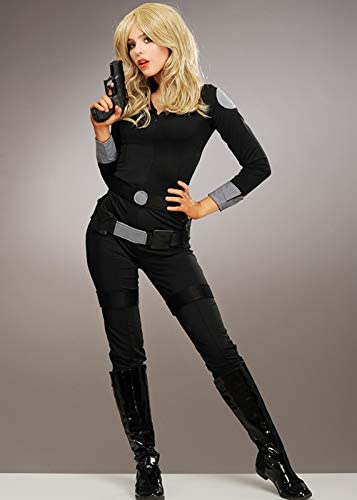 Magic Box Disfraz de Catsuit Negro Charlies Angels Style para ...