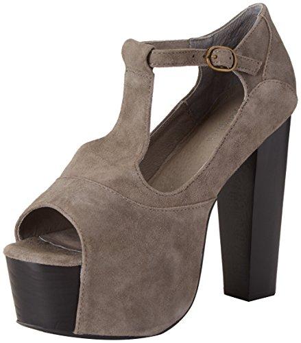 Foxy Suede Femme grigio Plateforme Campbell Jeffrey Sandales Gris q6Z115