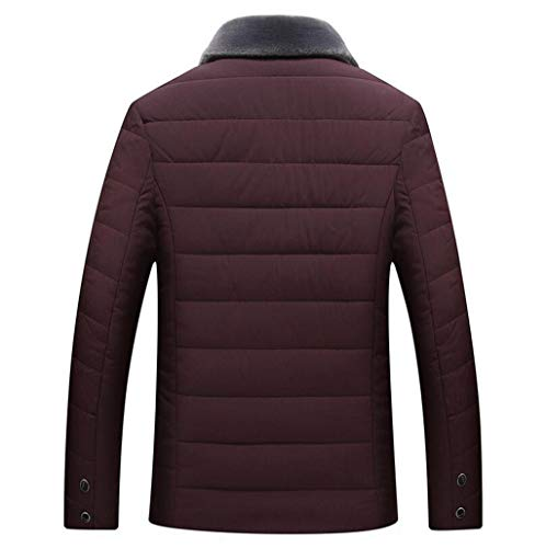 Di Xl colore Giacca Zjexjj Cotone Red Imbottito Cappotto Caricato Età Uomo Imbottita Dimensioni Da In Mezza Invernale 5ppanAOR