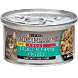 Pro Plan Trout and Pasta Entree Adult Canned Cat Food in Sauce, My Pet Supplies