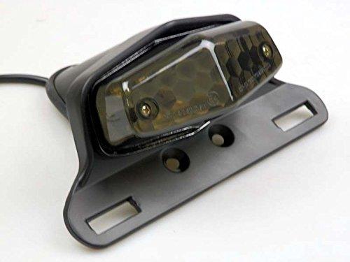 Black Lucas Style LED Stop Brake Tail Light Cafe Racer Tr...
