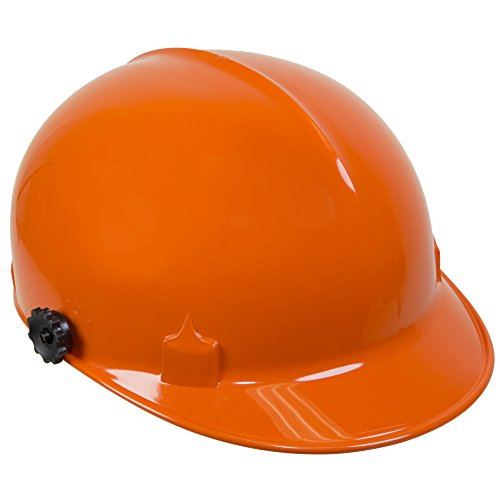 Jackson Safety C10 Bump Cap (20192) with Face Shield Attachment, Safety Hard Hat for Minor Bumps, Absorbent Brow Pad, 4-Pt. Suspension, Orange, 12 / Case