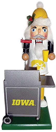 Iowa Hawkeyes Santa - Santas Workshop IAH060 12 in. Iowa Hawkeyes Tailgating Nutcracker