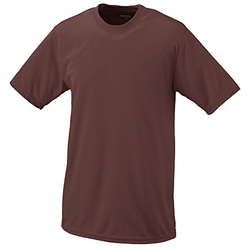 - Augusta Sportswear Teen-Boy's Wicking t-Shirt, Brown, Small