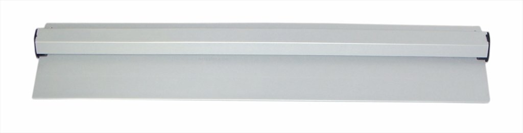 New Star 26924 Anodized Aluminum Slide Check Rack, 18-Inch, Silver