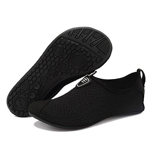 Slip Sports Footwear On For Kids VIFUUR Quick Men Yoga Women Dry Black Aqua Socks Water Barefoot Shoes 4W51Fpz