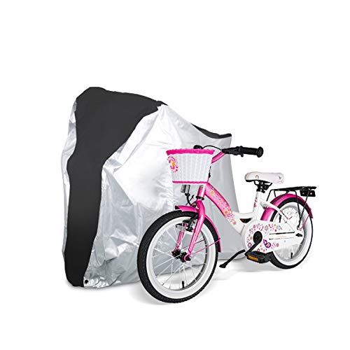 iHomeGarden Bike Cover - Outdoor Waterproof Bicycle Covers - Bicycle Wheel Cover Rain Sun UV Dust Wind Proof - Foldable Bike Storage Bag with Anti-Theft Lock Hole for Mountain Bike and Road Bikes