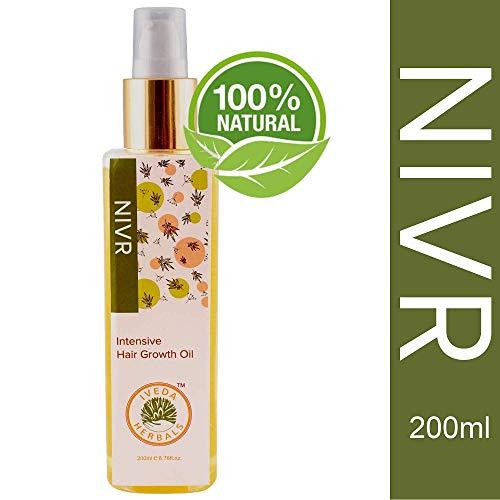 Nivr Ayurvedic Hair Growth Oil (200 ML) Specially Formulated With 6 Scalp Nourishing Herbs Like Bhringraj, Neeli & Amla - Control Hair Fall & Get Healthy, Long Hair Naturally