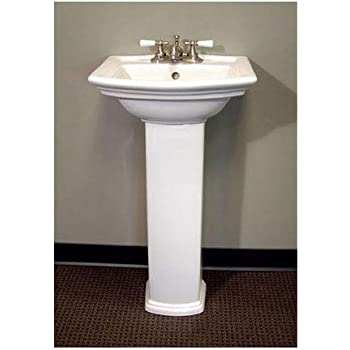 Captivating Barclay 3 384WH Washington 460 Pedestal Lavatory In White