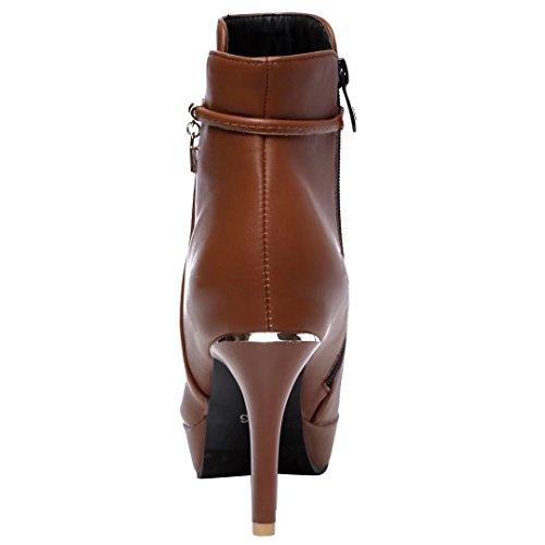 AIYOUMEI Women's Classic Boot Brown w3zTbZFP