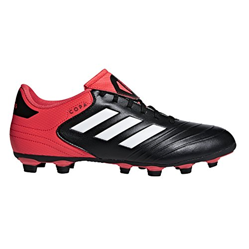 adidas Performance Men's Copa 18.4 FxG Soccer Shoe, Core Black/White/Real Coral, 10 M US