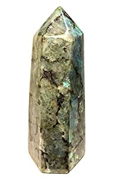 Extra Large Polished Labradorite Point from Madagascar - 4.6-5.5 inches tall - Crystal Wand Healing Reiki