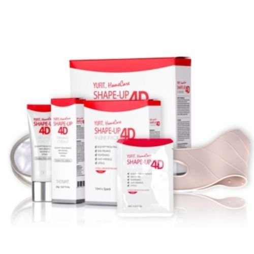 Face V-line Chin up Lift contouring Belt , Neck Line tightening Cream and 5 Masks - for Sagging Double - Face Shape Korean
