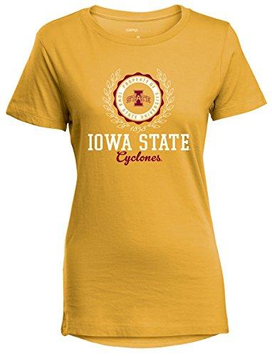 (Camp David NCAA Iowa State Cyclones Women's Perfect Crewneck Tee, X-Large, Marigold )