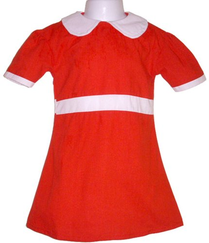 BdayParties Little Orphan Annie Dress Costume Child, Medium 4-6 NIP, Red (Annie Costume For Kids)