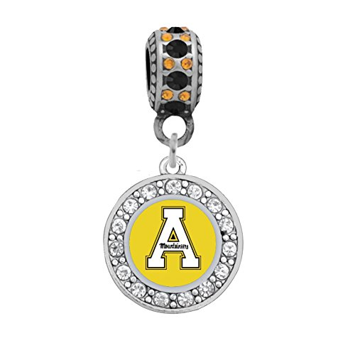 Appalachian State University Charm Fits European Style Large Hole Bead Bracelets …