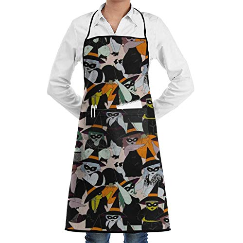 ABOUtshoc Halloween Witches Apron Kitchen Cooking Commercial Restaurant Apron for Women and Men-Perfect for Gifts