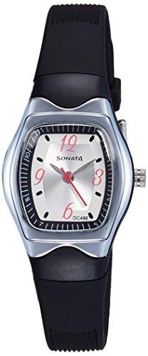 Sonata Analog White Dial Women #39;s Watch NM8989PP03 / NL8989PP03