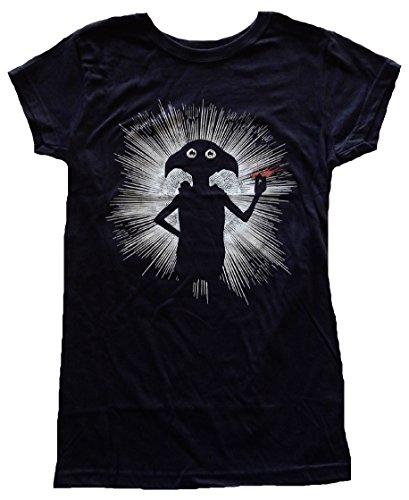 (Bioworld Harry Potter Dobby Magic Juniors Black T-Shirt M)