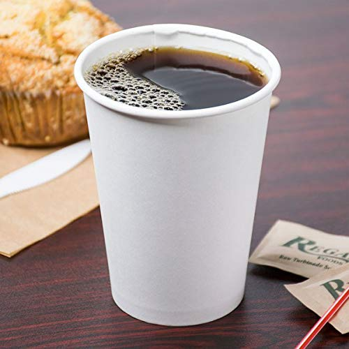 Choice 12 oz. White Poly Paper Hot Cup - 1000/Case (3 Cases)