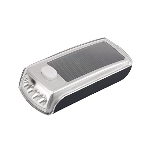 Bike Bicycle 4 LED Solar Powered USB 2.0 Rechargeable Front Light by Isguin (Image #1)