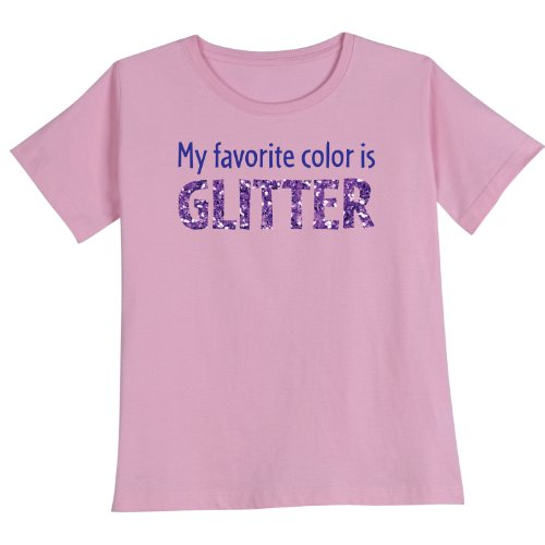 Girl's My Favorite Color Is Glitter Shirts - Kid's Tee - Medium