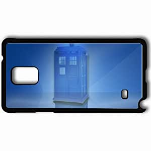 Personalized Samsung Note 4 Cell phone Case/Cover Skin Tardis MATERIALISE Black
