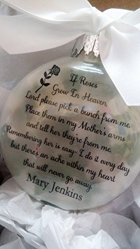 In Memory Mother Memorial Glass Ornament