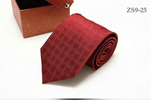 Necktie Ties Logo Silk (real silk necktie 9CM tie for men customized logo available strips waterproof antifouling 150CM longer - (Color: 25))