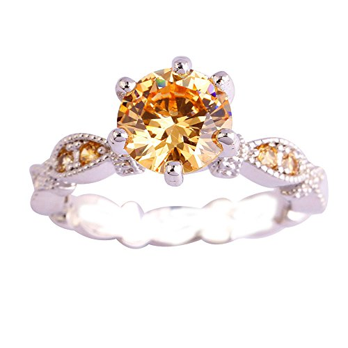 Plated Created Diamond Hearts Ring - Empsoul 925 Sterling Silver Natural Fancy Filled 2ct Round Cut Morganite Topaz Engagement Proposal Ring