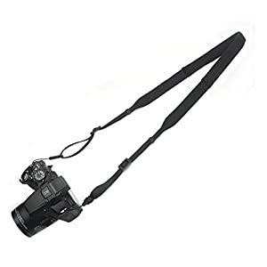 KANJIAN Light weight neoprene Camera Strap can be washed Universal Shoulder Neck Belt for DSLR Camera-Black
